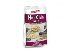 16 unidades Snack Mini Tortitas Maíz Chía Bio 50g