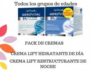 2x1 comprando 5 packs de cremas cutis Gerovital Classic