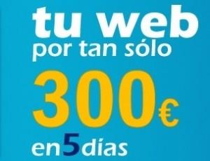 50% de descuento en diseño de páginas web. Solo por 300 €