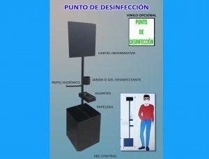 Punto de desinfección para oficinas y comercios