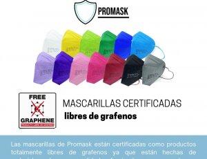 Mascarillas FFP2 de colores PROMASK.