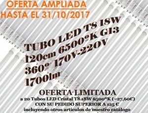 Envío gratis por compras superiores a 125€ en tubos LED