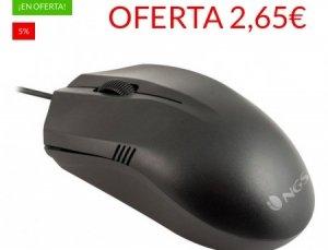5% de Descuento Comprando Ratón con Cable NGS Negro