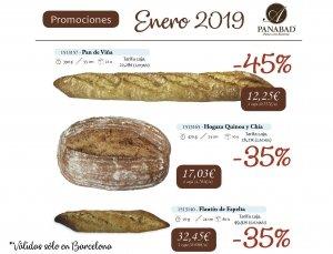Entre 35% y 45% de descuento comprando pan congelado