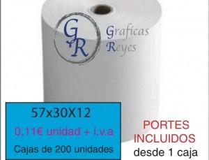 Envío gratis comprando rollos térmicos 57x30x12