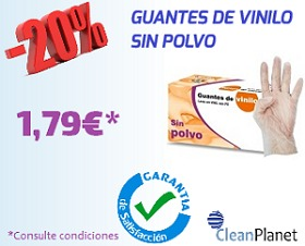 20% de Dto. en guantes de vinilo sin polvo