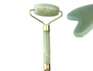 Rodillos de masaje de Jade Verde