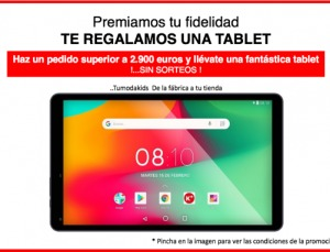 Regalo de una tablet por tus pedidos
