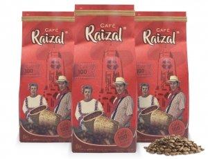 Café Raizal 3 x 340 gramos en grano, origen Colombia