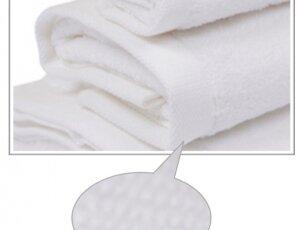 Toalla blanca 70x140 cm 100% algodón, 600 gramos
