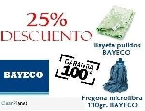 25% de descuento comprando bayetas y fregonas de BAYECO