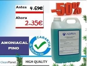50% de descuento comprando amoniacal pino plus