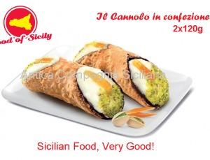 10% descuento comprando Cannolo Siciliano con ricotta