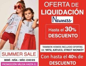 Liquidación ropa infantil verano