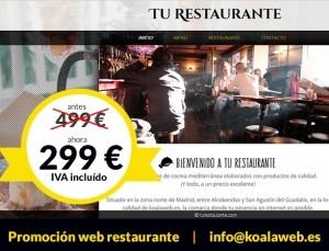 Web Tu Restaurante antes 499€ ahora 299€
