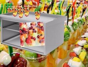 Mostrador para exposición de fruta y hielo