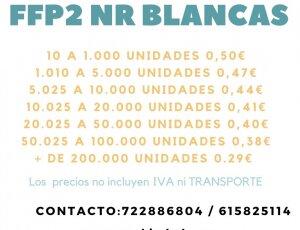 Mascarillas FFP2 NR Blancas