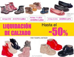 Liquidación de calzado infantil