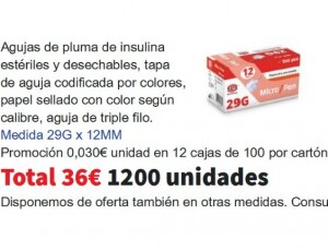 Agujas de insulina