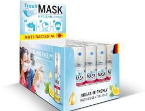 Spray antibacterial para mascarillas