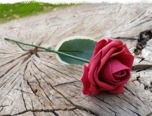 LIQUIDACIÓN Pack de 100 rosas granates de goma eva