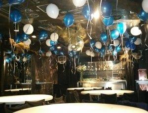 50 Globos inflados con helio y cinta en Madrid