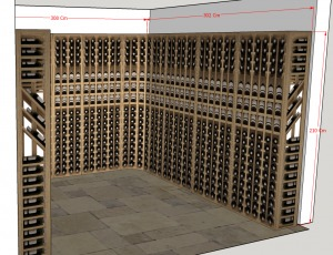 Diseño 3D gratis para Instalacion Vinoteca