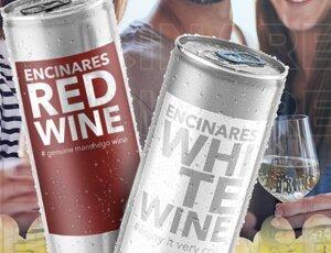 VINOS EN LATA BLANCO Y TINTO / CANNED WINE en oferta